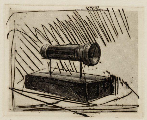 Flashlight (Small), 1st Etchings, 2nd State by Jasper Johns