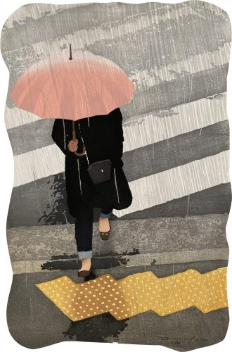 Slippery When Wet by Daniel Kelly at Hanga Ten - Contemporary Japanese Prints