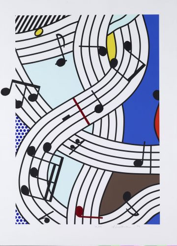 Composition I by Roy Lichtenstein