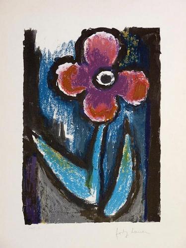Josef Herman – Lyrical Flower by Josef Herman at