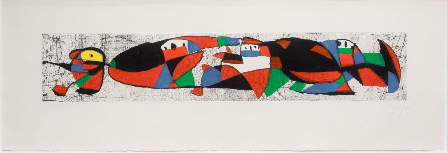 Les Troglodytes I by Joan Miro
