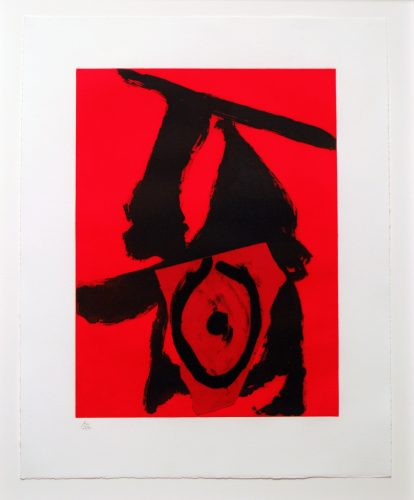 Red Queen by Robert Motherwell at Leslie Sacks Gallery (IFPDA)