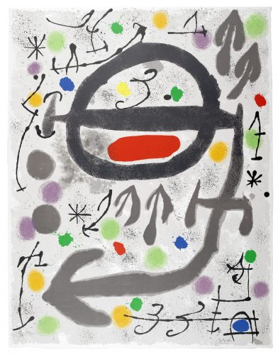 Les Perseides: Plate III by Joan Miro at Sims Reed Gallery (IFPDA)