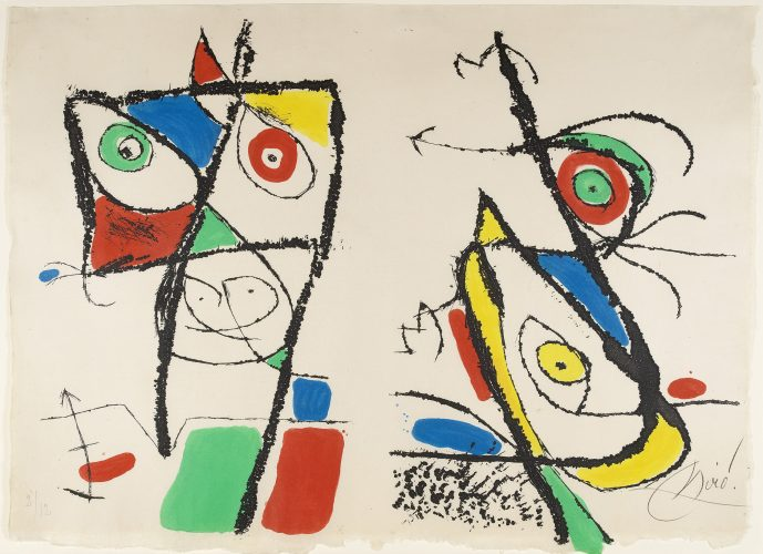 Le Courtisan Grotesque: Plate X by Joan Miro at Sims Reed Gallery (IFPDA)