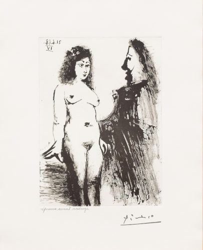 Jeune Prostitutee et Mousquetaire, from the 347 Series by Pablo Picasso
