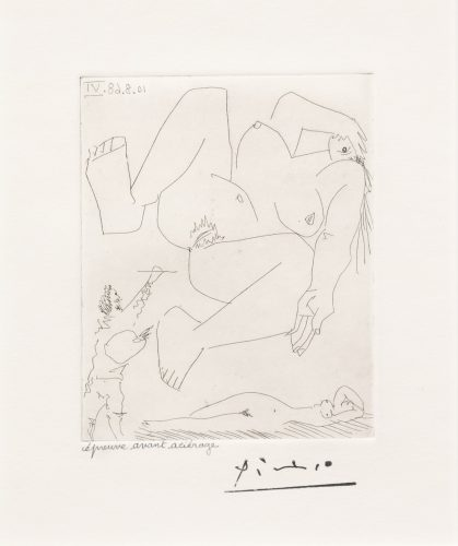La Demesure du Peintre, from the 347 Series by Pablo Picasso