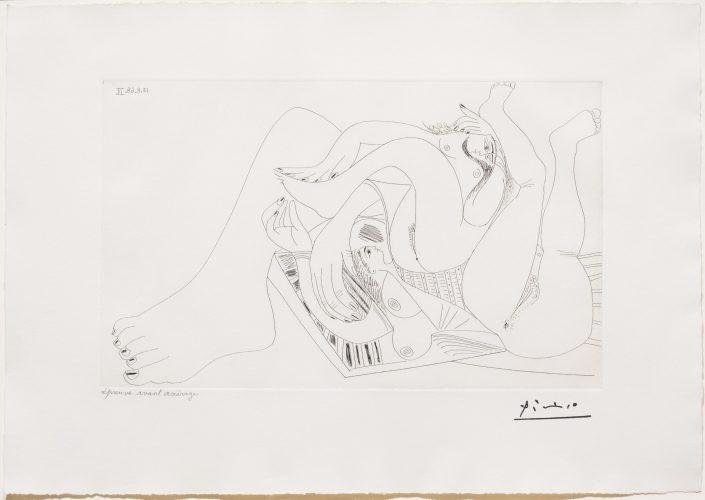 Deux Femmes Batifolant sur un Matelas de Plage, from 347 Series by Pablo Picasso