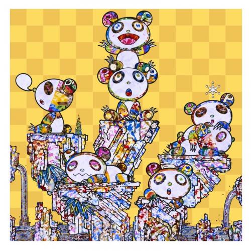 Panda Cubs Pandas by Takashi Murakami
