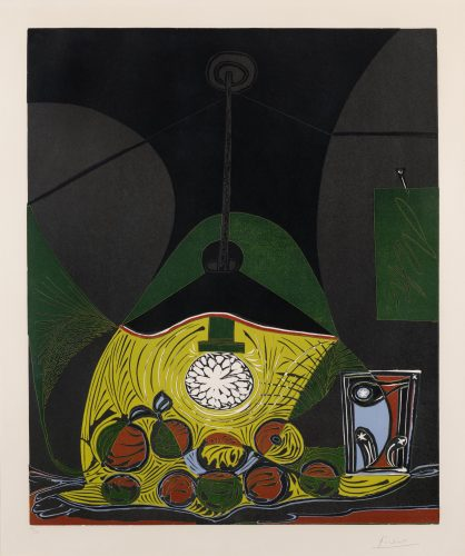 Nature morte sous la lampe – Nature morte a la suspension  (Still life under the lamp) by Pablo Picasso