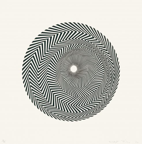 Untitled (Based on Blaze) by Bridget Riley at Sims Reed Gallery (IFPDA)