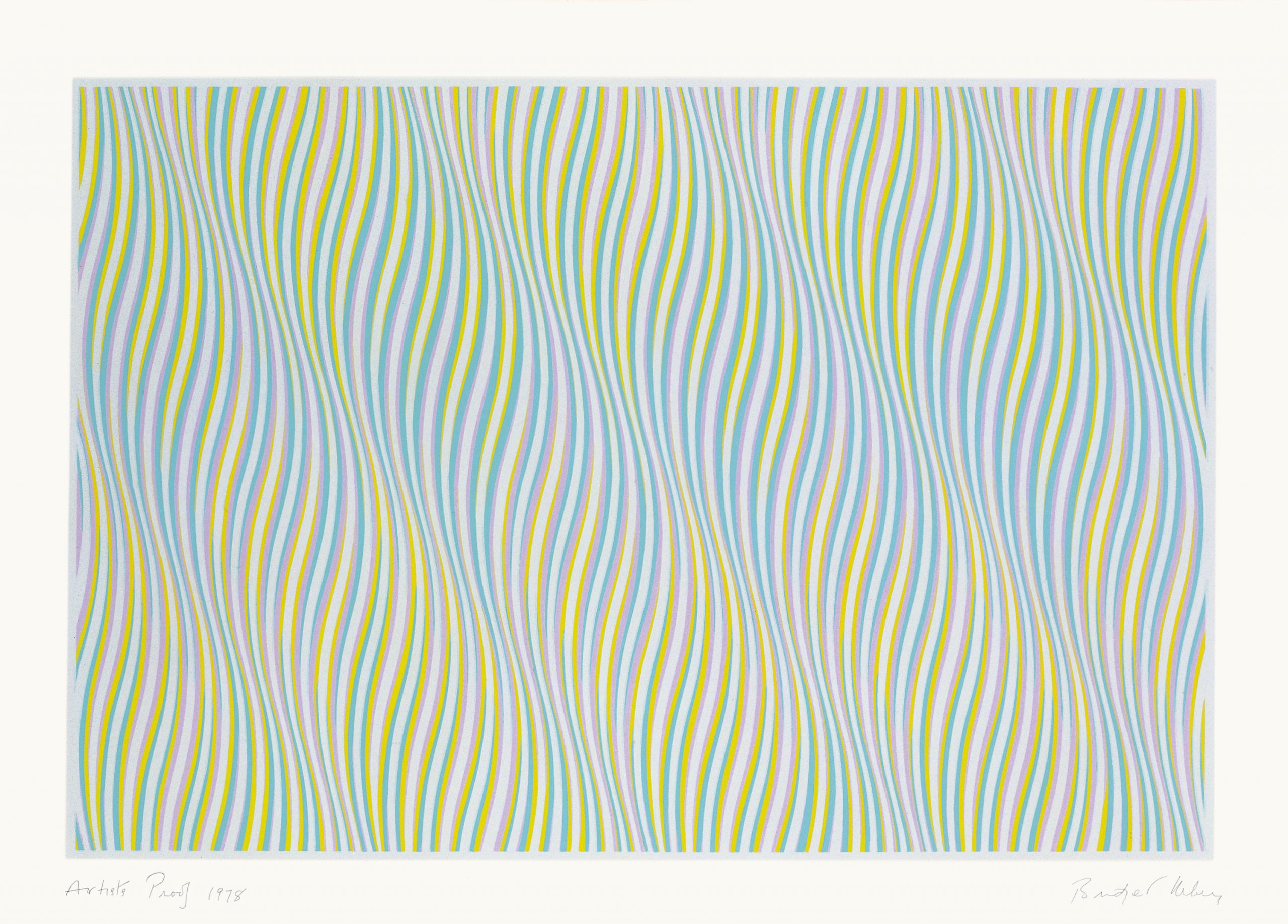 Untitled (Blue) by Bridget Riley