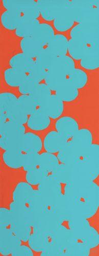 Wallflowers (Aqua and Orange) by Donald Sultan