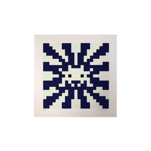 Sunset (Blue & White) by Invader