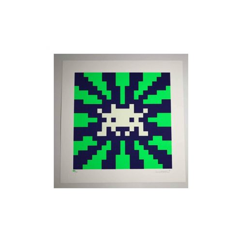 Sunset (Blue & Green) by Invader
