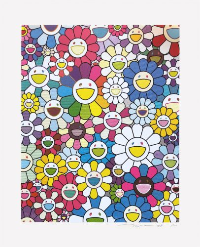 A Field of Flowers Seen from the Stairs to Heaven by Takashi Murakami