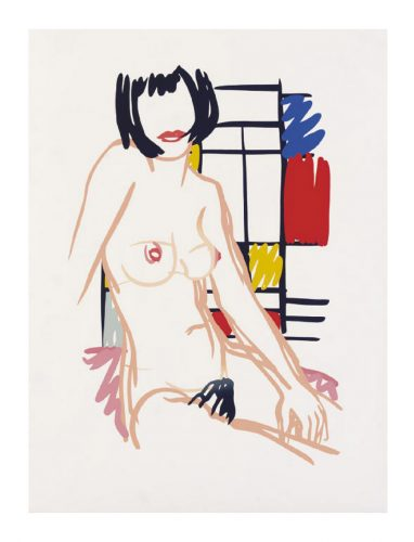 Monica Sitting with Mondrian by Tom Wesselmann at