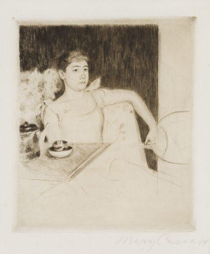 Tea by Mary Cassatt at