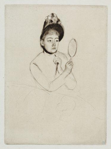 The Bonnet by Mary Cassatt