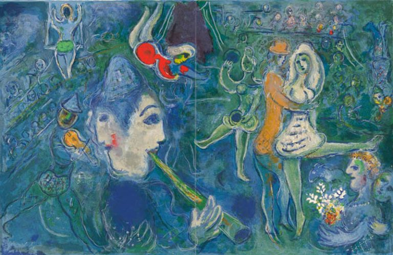 Untitled From The Circus by Marc Chagall