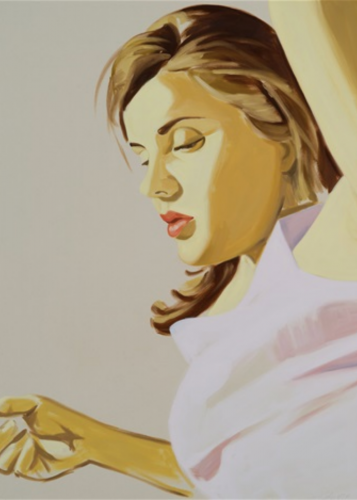 Woman With Raised Arm by David Salle at