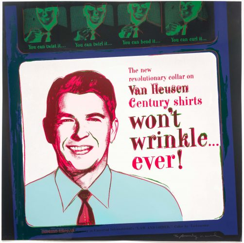 Van Heusen (Ronald Reagan), from Ads by Andy Warhol