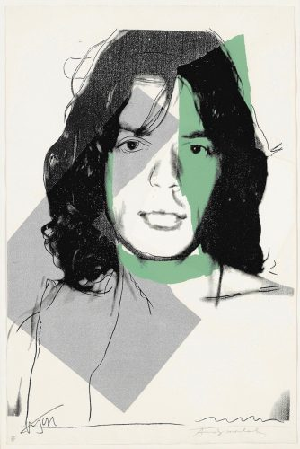 Mick Jagger #138 by Andy Warhol