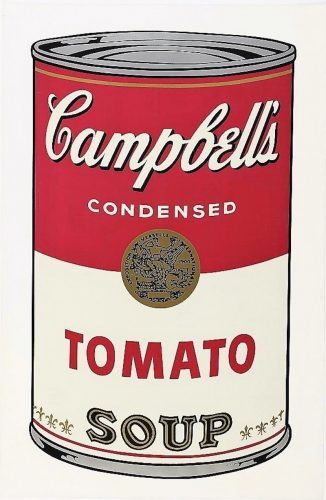 Campbell's Soup I: Tomato by Andy Warhol