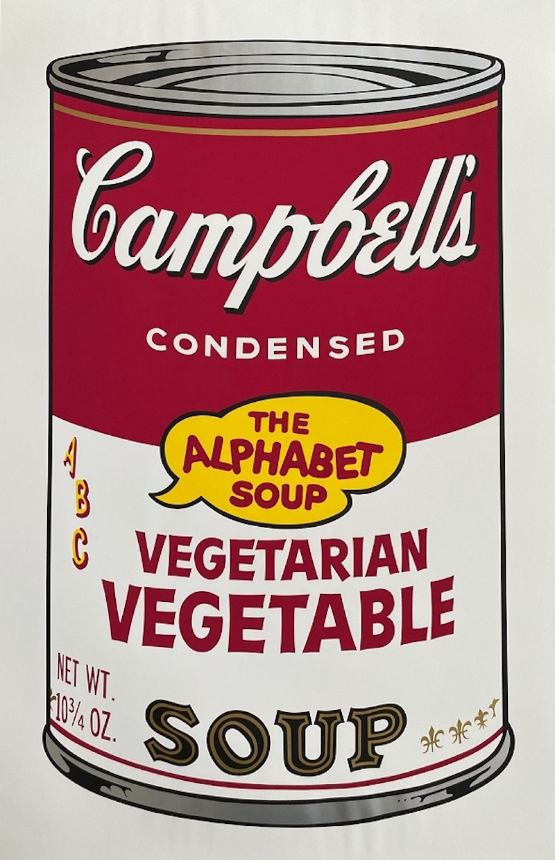 Campbell's Soup II: Vegetarian Vegetable by Andy Warhol