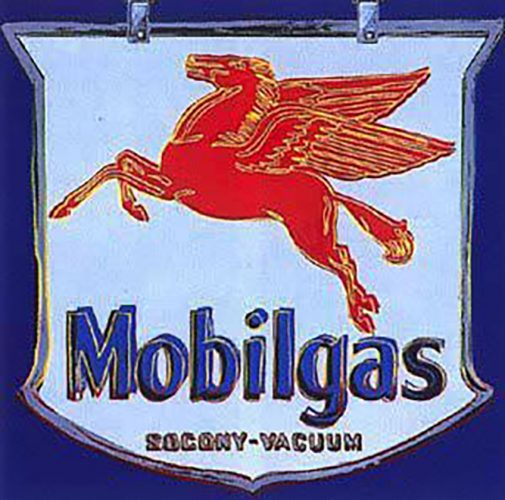 Ads: Mobilgas by Andy Warhol