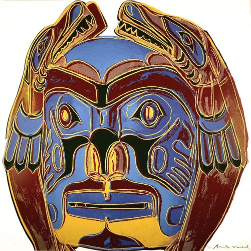 Cowboys and Indians – Northwest Coast Mask (FS.II.380) by Andy Warhol