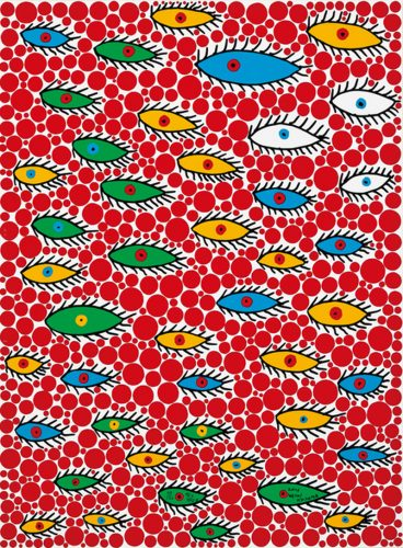 Eyes Flying in the Sky by Yayoi Kusama at