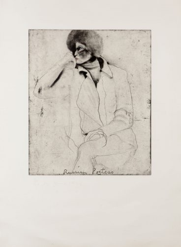 Russian Poetess, from Eight Sheets from an Undefined Novel by Jim Dine