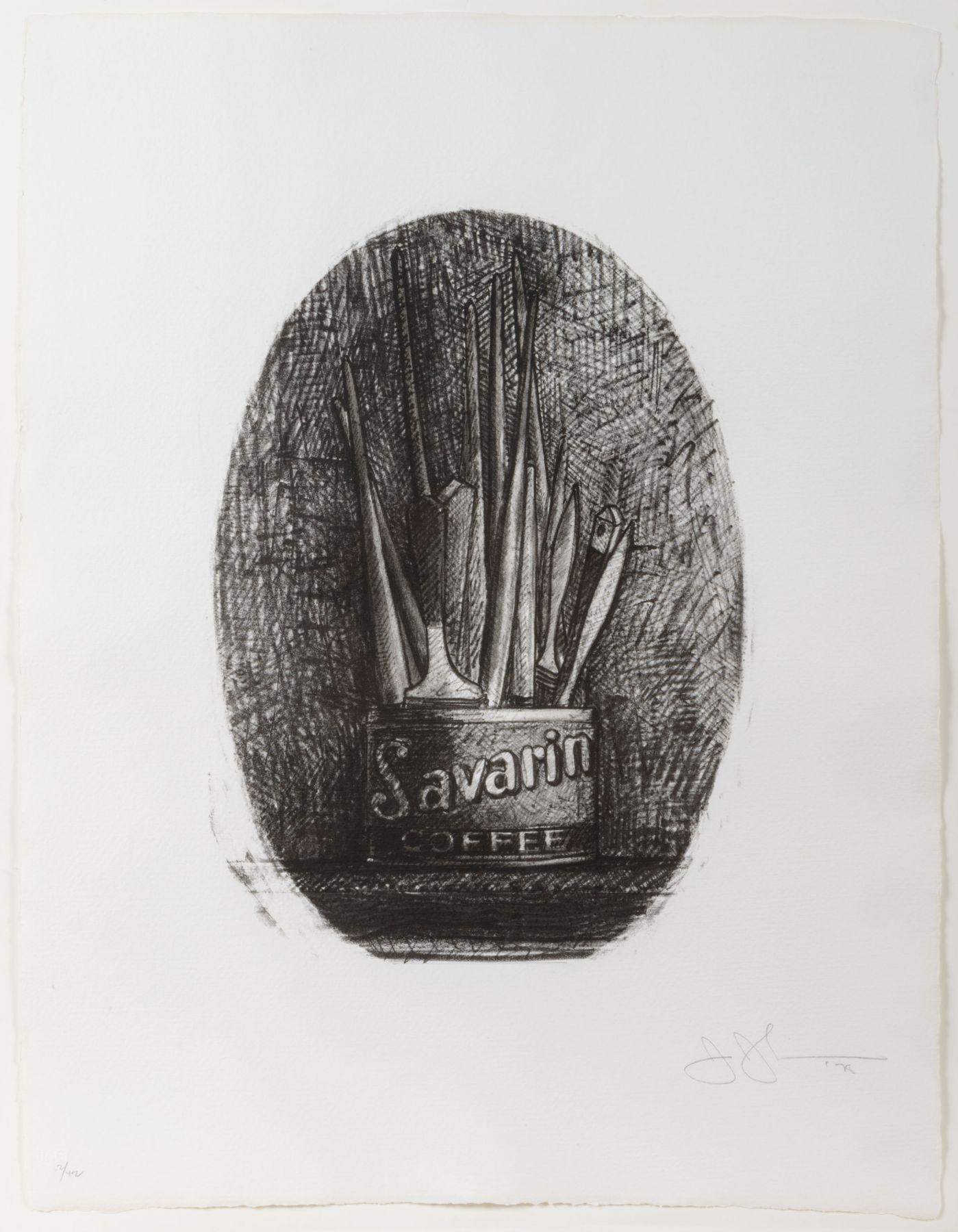 Savarin 4 (Oval) by Jasper Johns