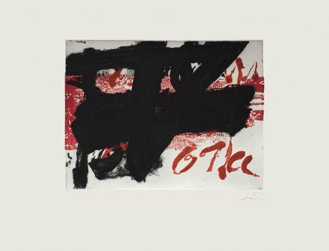 Noir sur Rouge by Antoni Tapies at