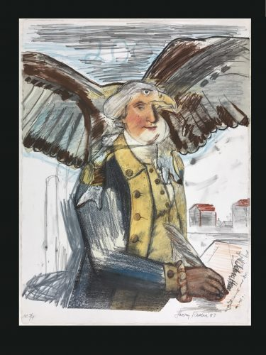 Bald Eagle, George and Part of the Constitution by Larry Rivers