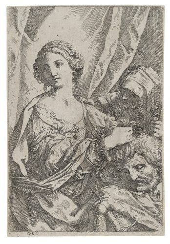 Judith grasping the head of Holofernes by Giovanni Andrea Sirani