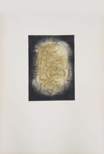 La Même Plaque que le No 4 (Nou Variacions sobre Tres Gravats de 1947-1948) by Antoni Tapies