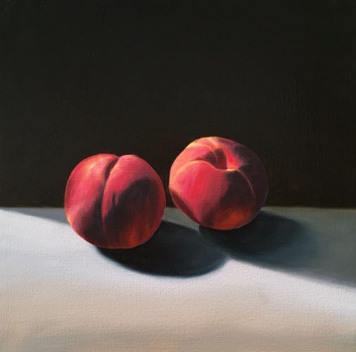 Two Peaches by Bruce Cohen at Leslie Sacks Gallery (IFPDA)