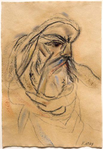 After Delacroix's Michelangelo by R.B. Kitaj