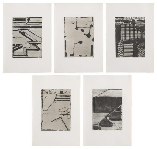 Five Aquantints with Drypoint by Richard Diebenkorn at