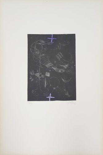 La Même plaque que le no 1 et 2 (Nou Variacions sobre Tres Gravats de 1947-1948) by Antoni Tapies at