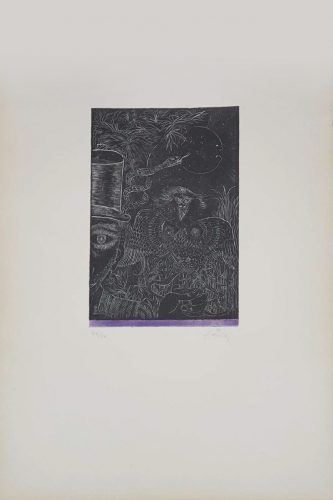 La Même Plaque que le nos 4 et 5 (Nou Variacions sobre Tres Gravats de 1947-1948) by Antoni Tapies at