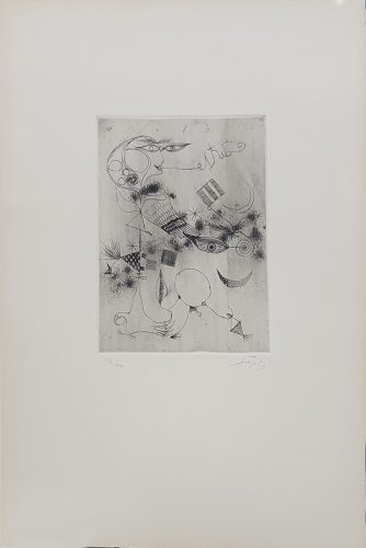 Untitled (Nou Variacions sobre Tres Gravats de 1947-1948) by Antoni Tapies