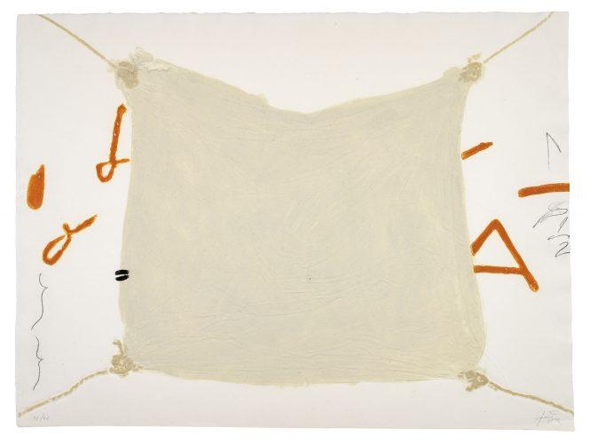 Mocador Lligat by Antoni Tapies at