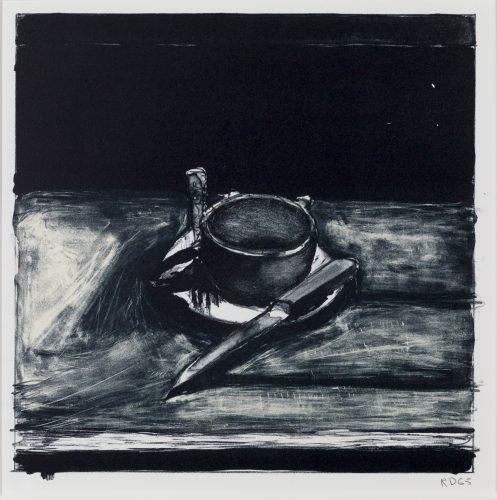 Cup, Saucer, Fork, Knife by Richard Diebenkorn