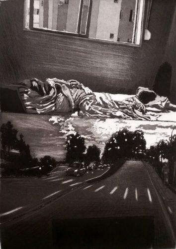 Bed and Sky by Lucas Naganuma at