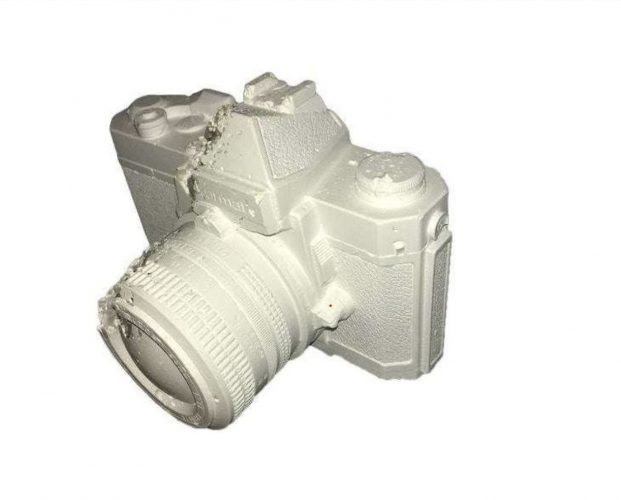 """Reach Ruin"" Nikon Nikkormat FT Eroded Camera by Daniel Arsham"