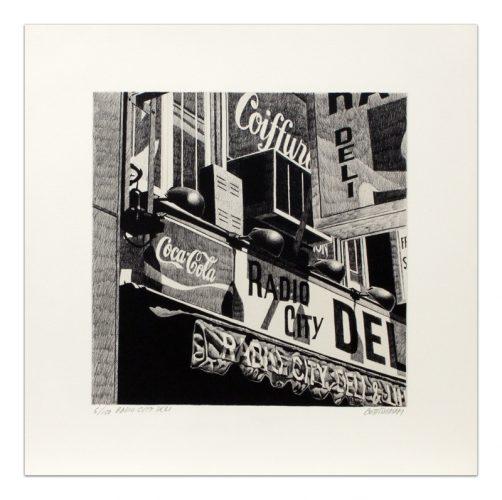 Radio City Deli by Robert Cottingham at