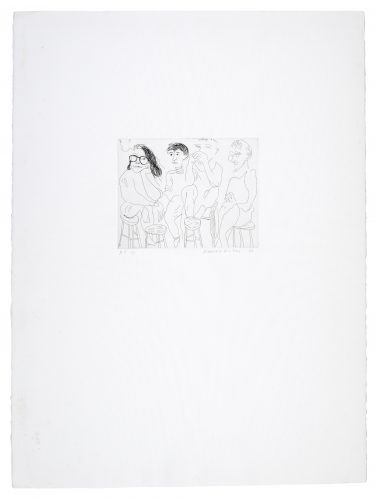 Harvard Etching by David Hockney at