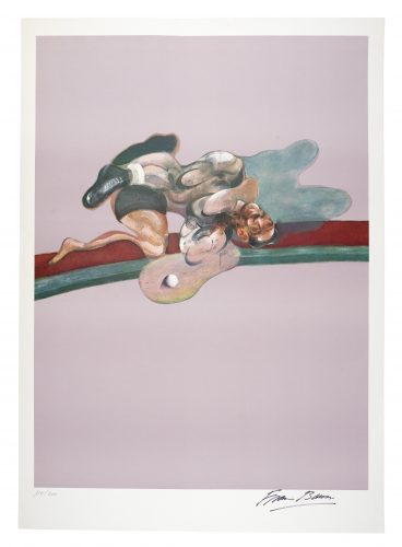 Triptych (After the Left Panel of Triptych, 1971, in Memory of George Dyer) by Francis Bacon